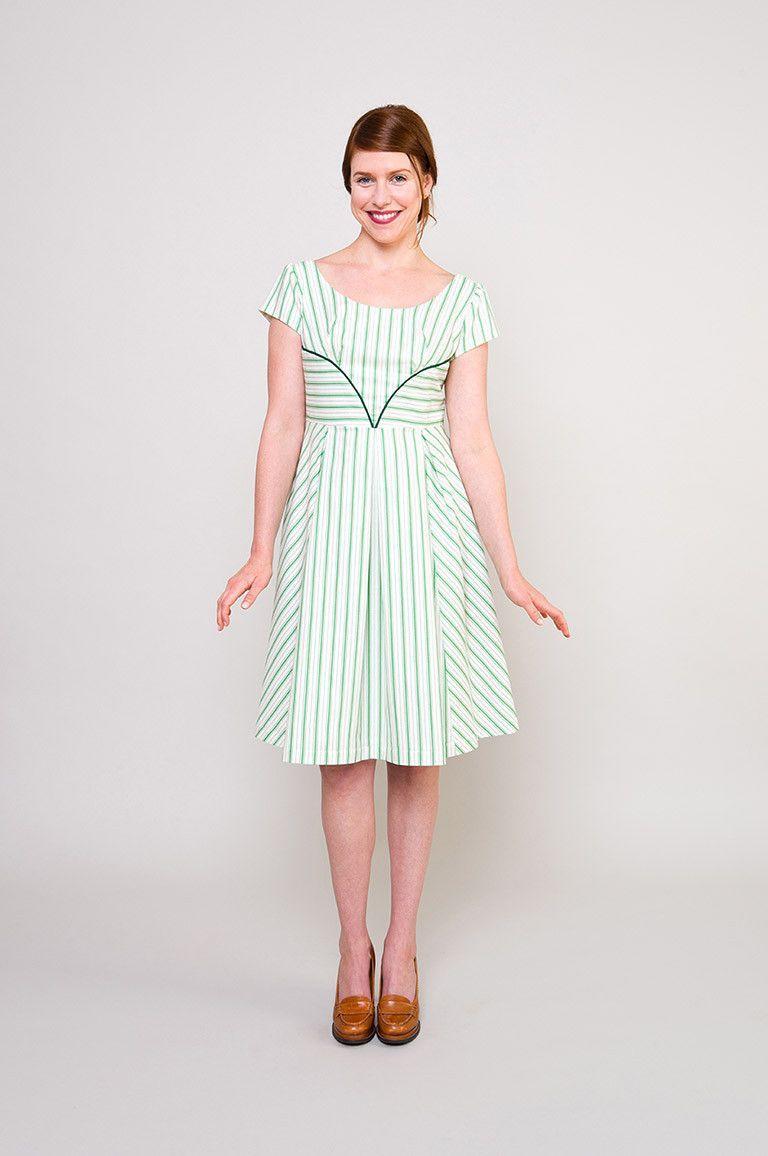 Rue dress pattern, 0-26