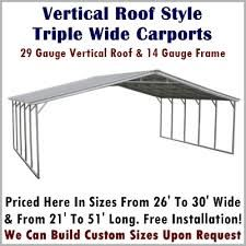 Metal Carport Depot Provides Combo Metal Carports In Different Styles Sizes And Roofs Our Combo Units Are Extremely Durabl Metal Carports Roof Styles Carport