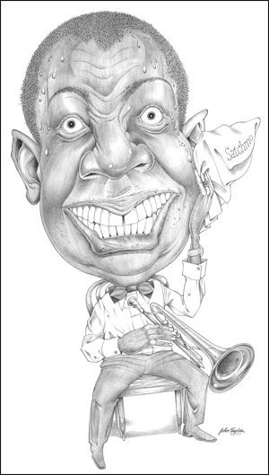 Louis Armstrong  (by Jamey Aebersold)