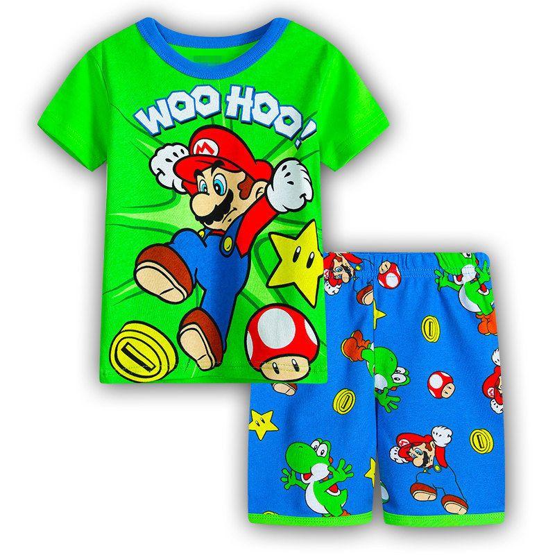 Super Mario new cartoon boy/'s short-sleeved T-shirt pants