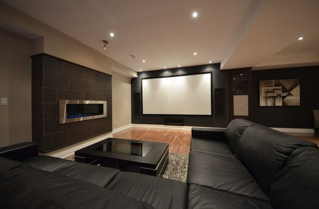 Basement Home Theatre Ideas Property 15 awesome basement home theater cinema room ideas | low ceiling