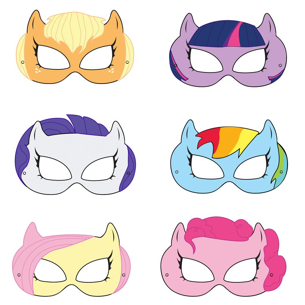 Pony Printable Masks, pony mask, horse mask, girls costume, pony ...