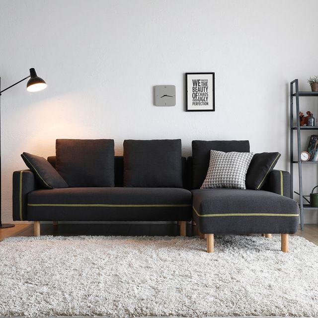 Wooden Legs Corner L Shaped Sofa Bed, L Shape Sofas Ikea