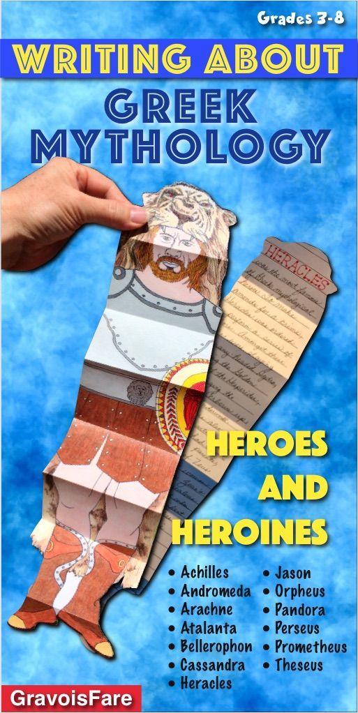 Greek Mythology Activities Heroes And Heroines 13 Big Galoots Mythology Greek Mythology 6th Grade Activities