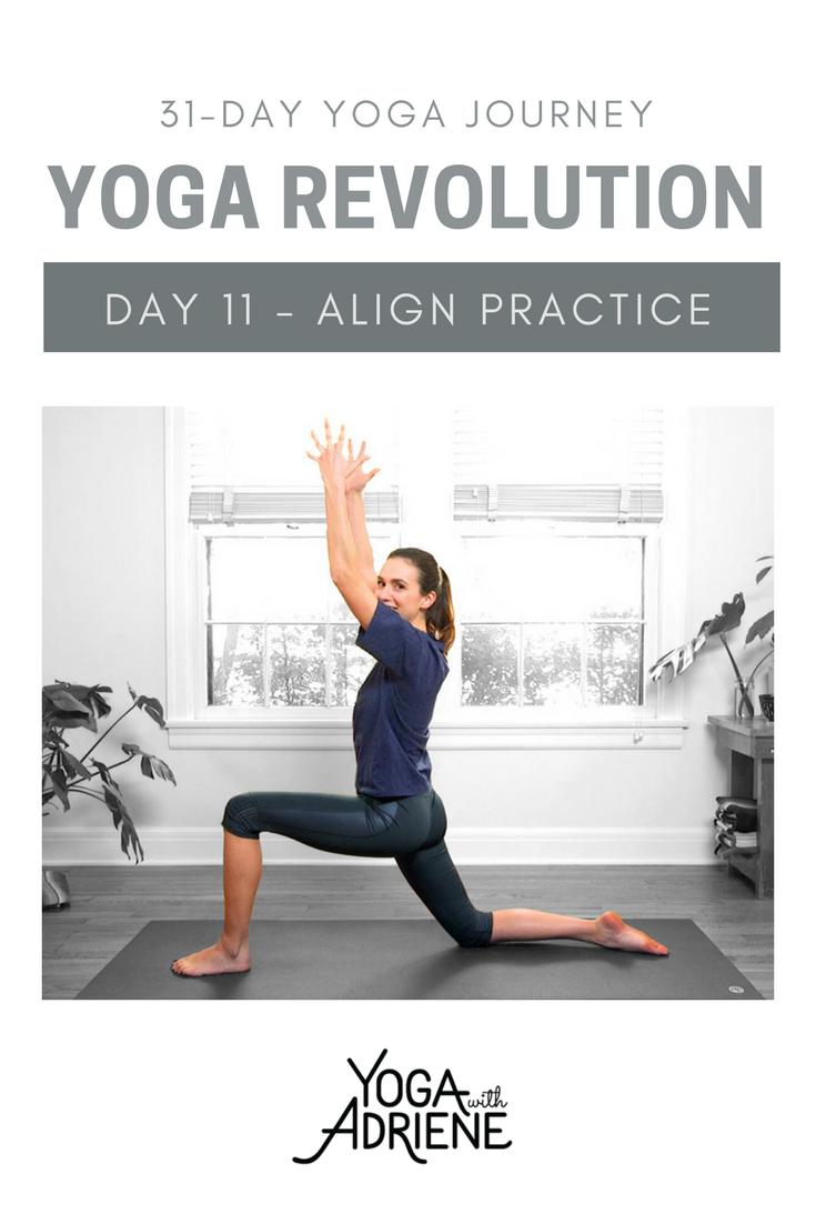 Yoga With Adriene Day 11 : adriene, Revolution, Series,, Practice, Supportive, Designed, Align, Re-align, Adriene,, Yoga,, Wellness