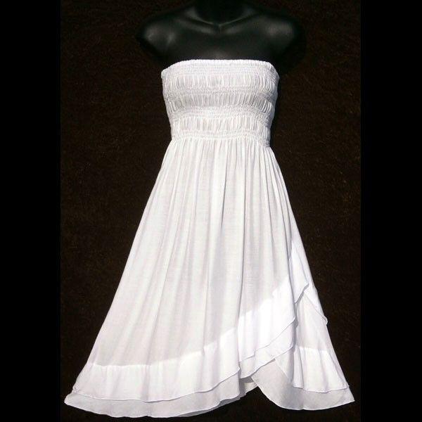 plus size white sundress wholesalewhitestrapless