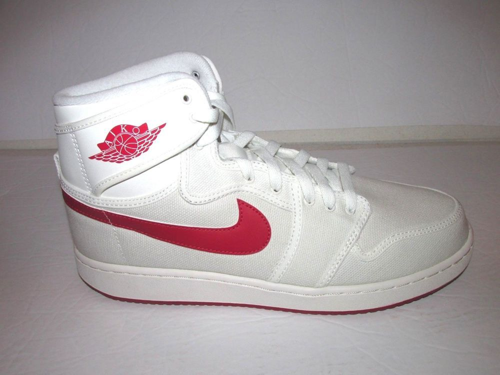 buy popular 43184 b0afe Jordan AJ1 KO High OG Timeless Cavas Shoes Mens 11 Sail Varsity Red  Jordan   BasketballShoes