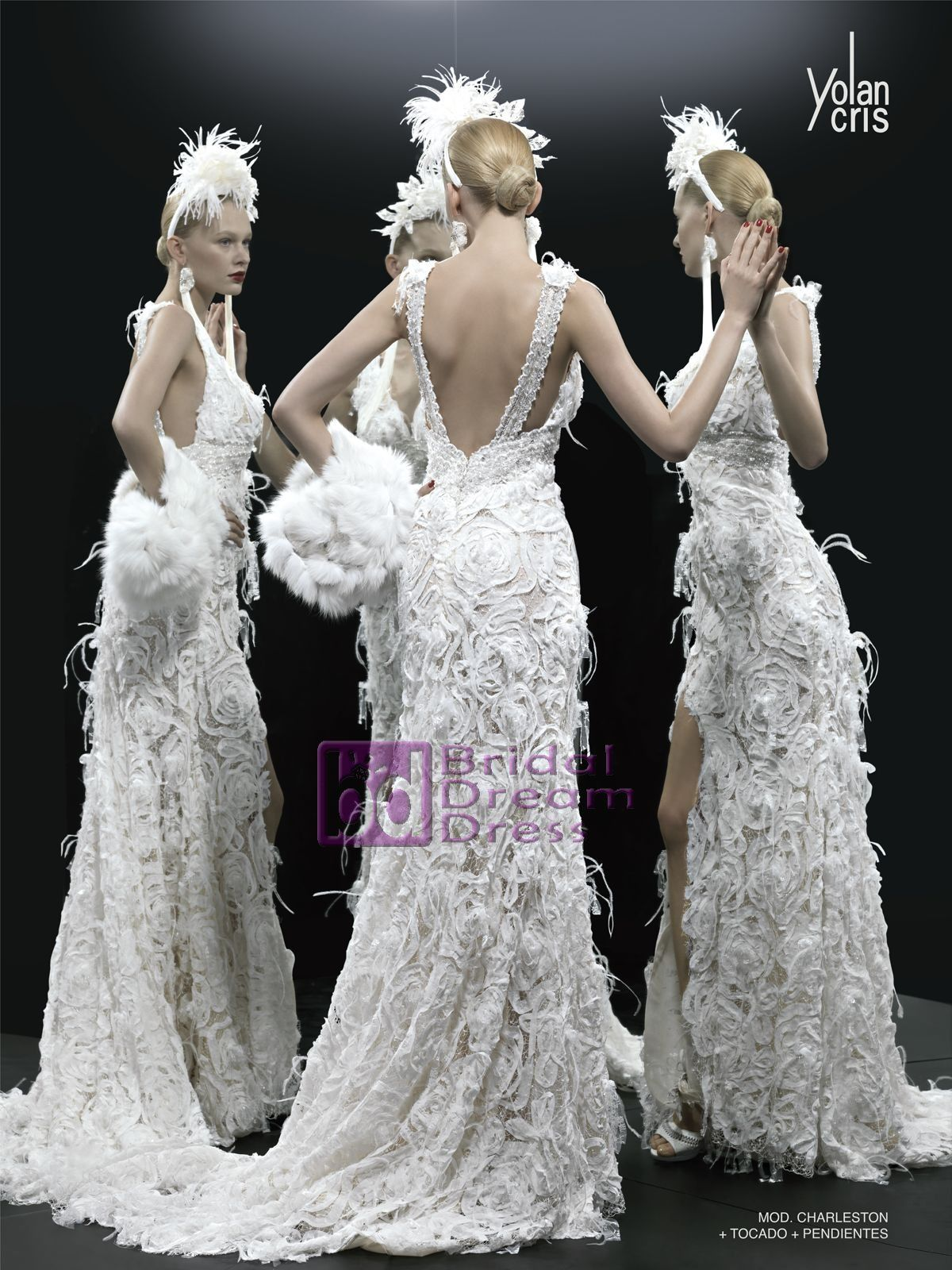 Gorgeous Charleston Style Wedding Dress By Yolancris