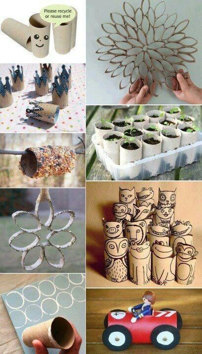 Recycling Tissue Rolls Kartonschachtel Basteln Kreativ Basteln Kreativ
