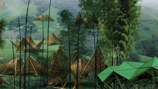 Bamboo House Design Compeion on