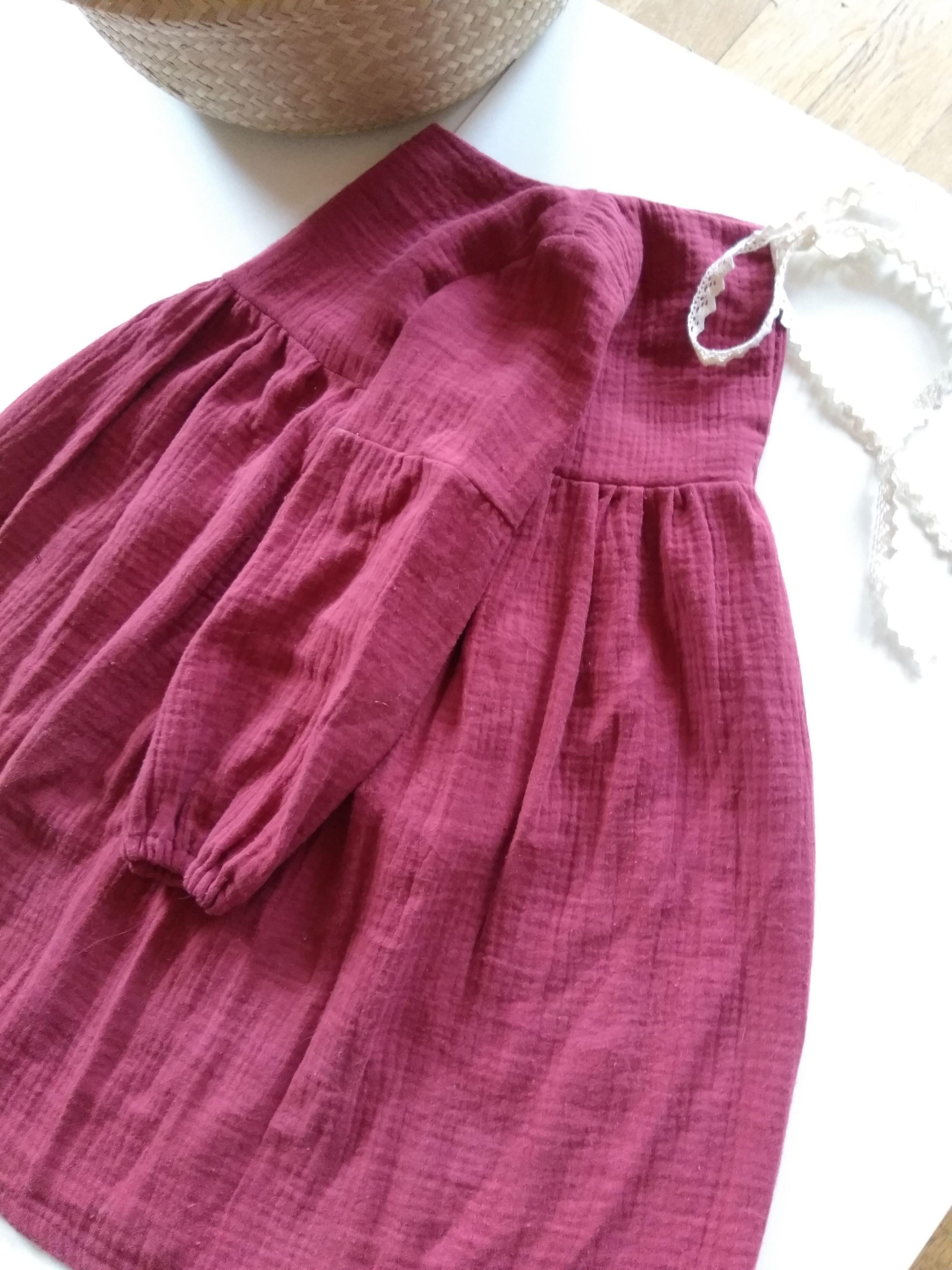 MARLI Musselin Kleid | handmade with love nähen für kinder ...