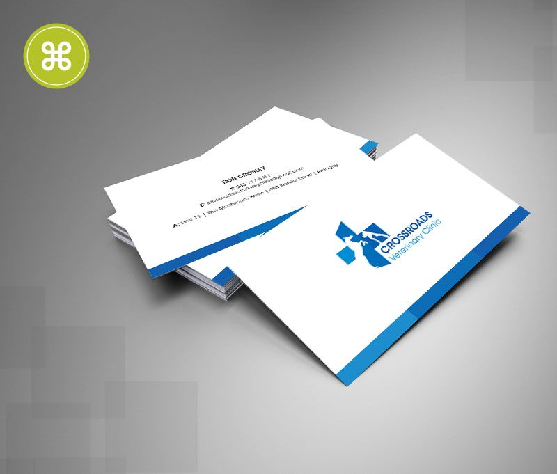 CrossRoads Veterinary Clinic Business Cards | Business Cards ...