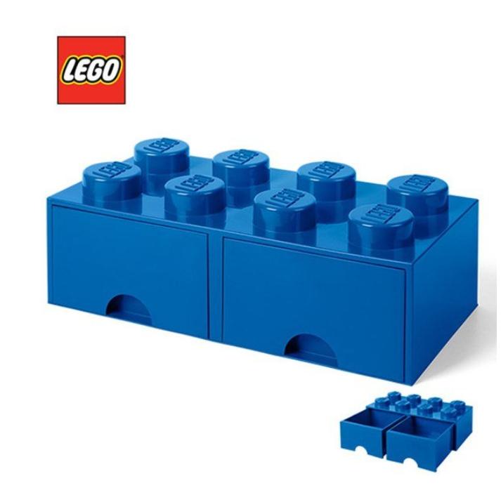Lego Block Brick Storage Blue Bin Box Container Drawer Toy Original Kids  Gift
