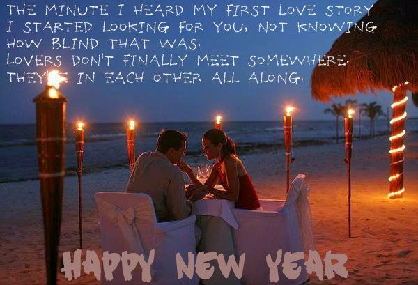 wish your girlfriend a very happy new year 2015now its time to forget your