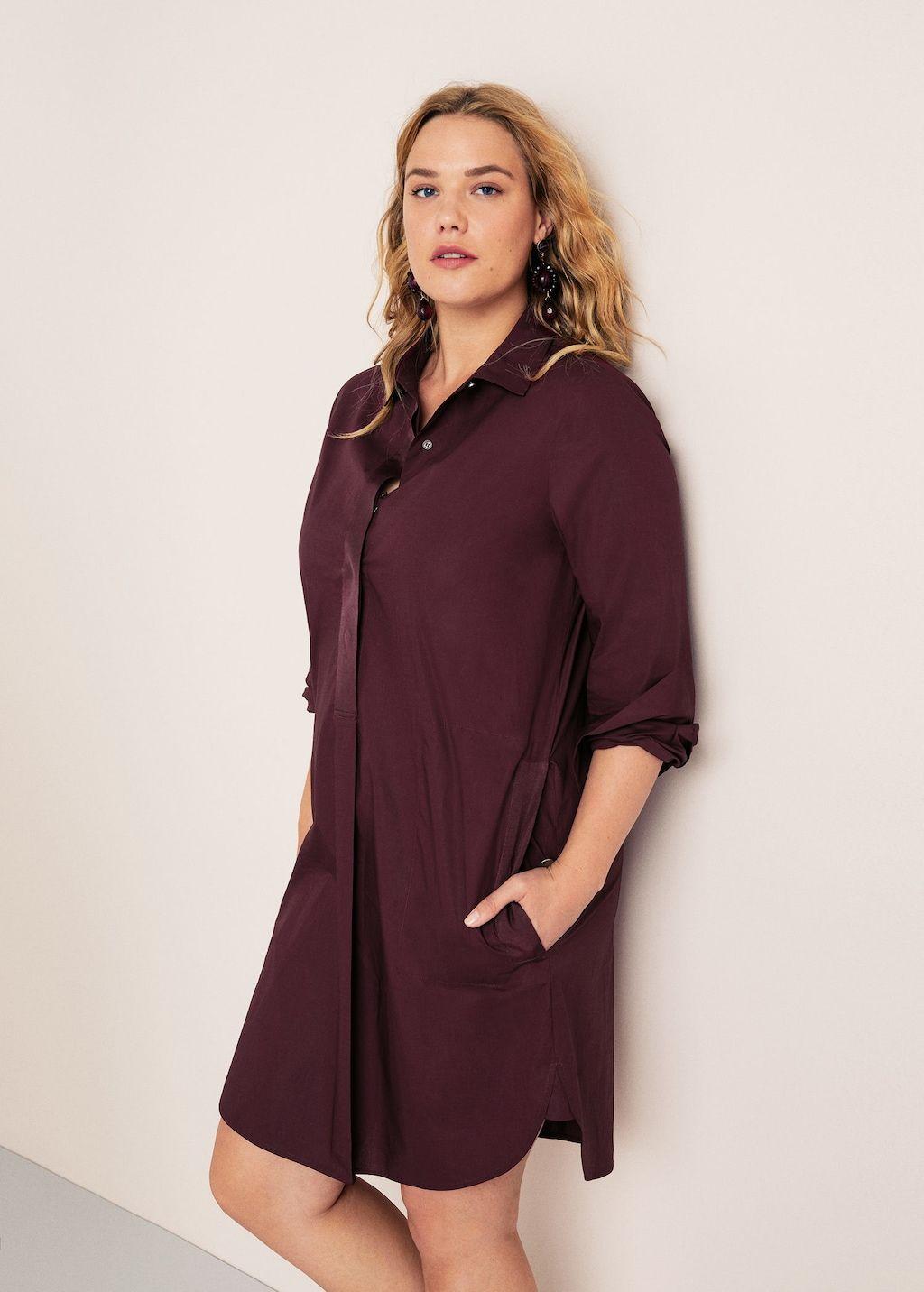 Cotton Shirt Dress Plus Sizes Violeta By Mango United Arab Emirates Cotton Shirt Dress Plus Size Gowns Formal Clothes