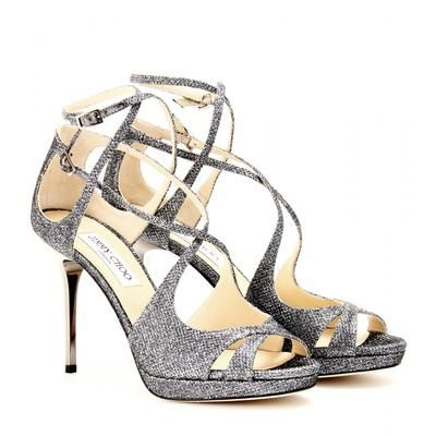 Jimmy Choo - Mimic glitter sandals #shoes #jimmychoo #women #designer #covetme
