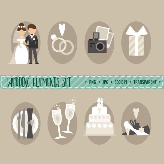 Hochzeit Ablauf Symbole Wedding Timeline Icons Download W