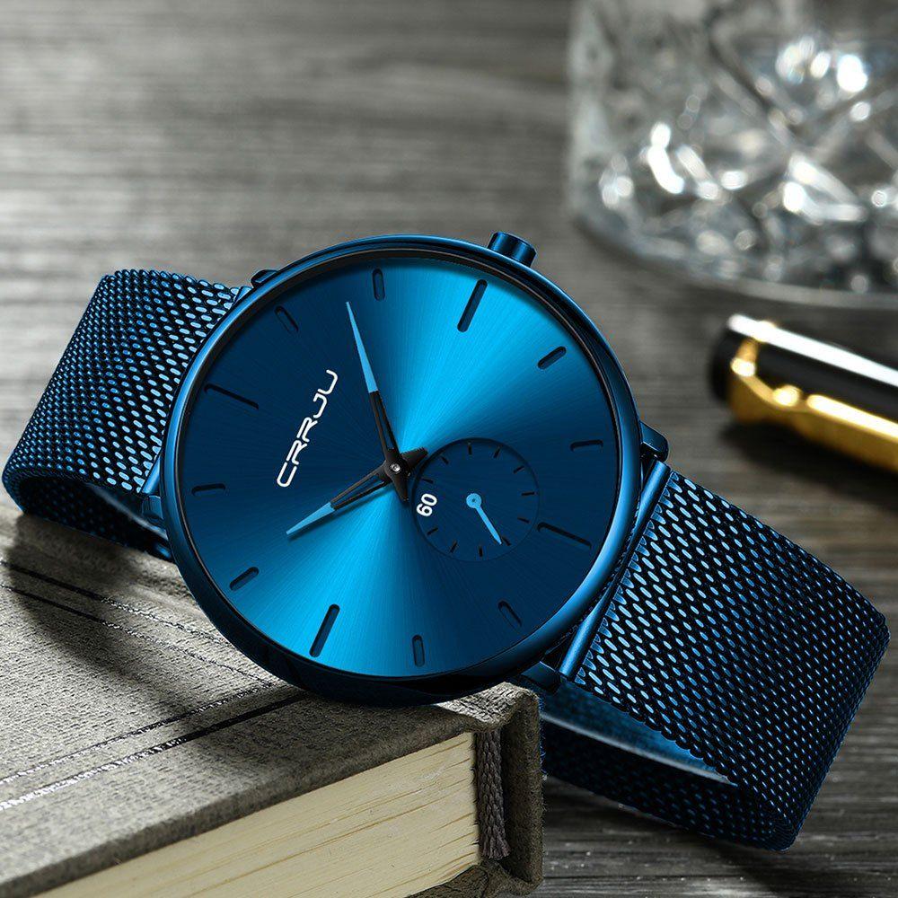 Top Brand Luxury Quartz New Simple Design Waterproof Stainless