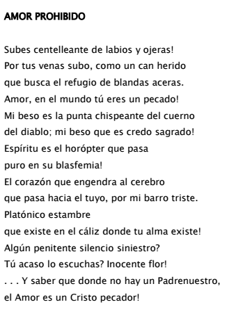 César Vallejo Amor Prohibido Amor Prohibido Amor Cesar Vallejo