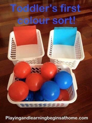 Color Sorting Ball Toss | Such an OT | Pinterest | Kids learning ...