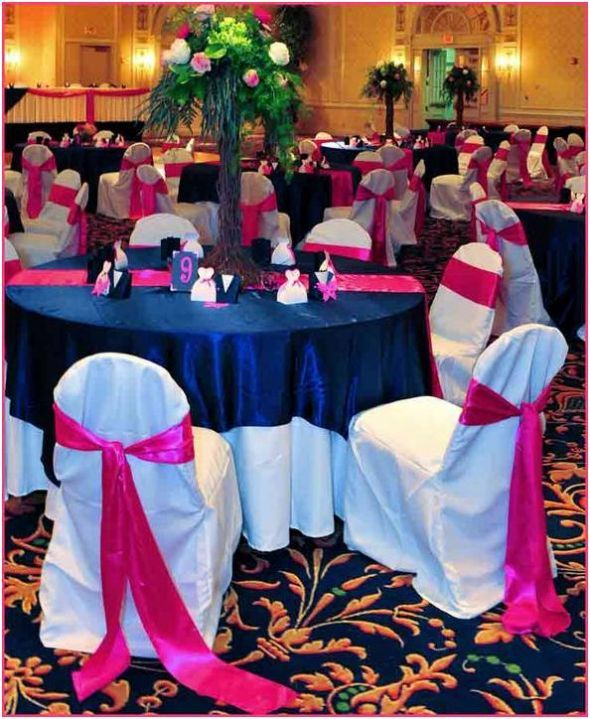Navy And Magenta Wedding