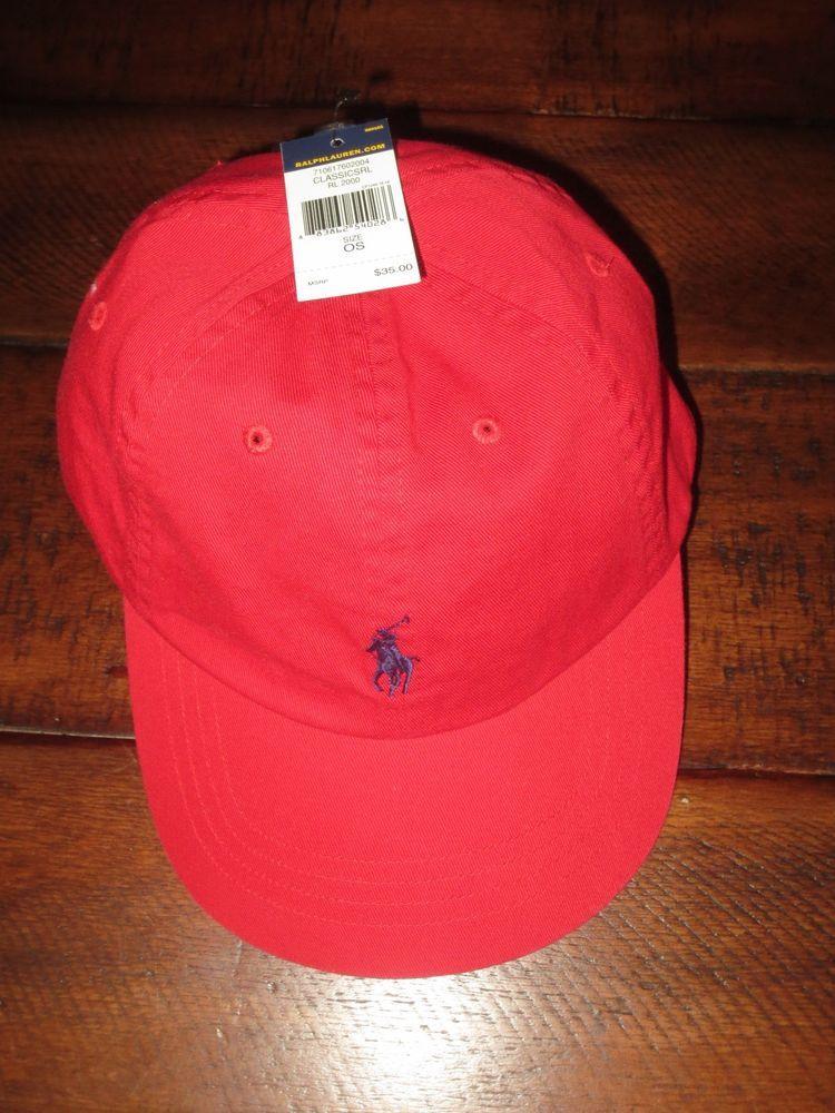 a6f7644d NEW POLO RALPH LAUREN MEN'S BASEBALL CAP RED NWT HAT #PoloRalphLauren  #BaseballCap