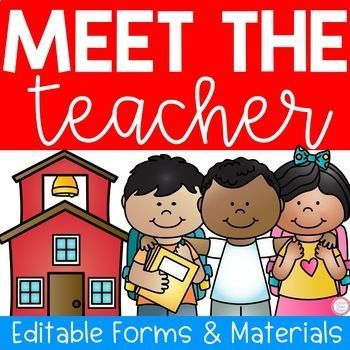 Meet The Teacher Night (Editable Forms  Materials) Parent