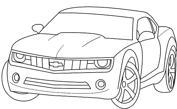 Chevrolet Camaro Bumblebee Car Coloring Pages Best Place To Color Cars Coloring Pages Chevrolet Camaro Bumblebee Chevrolet Camaro
