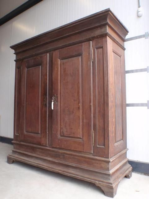 antiek eiken kast demontabel oak antique amoir knock down original rh pinterest co uk