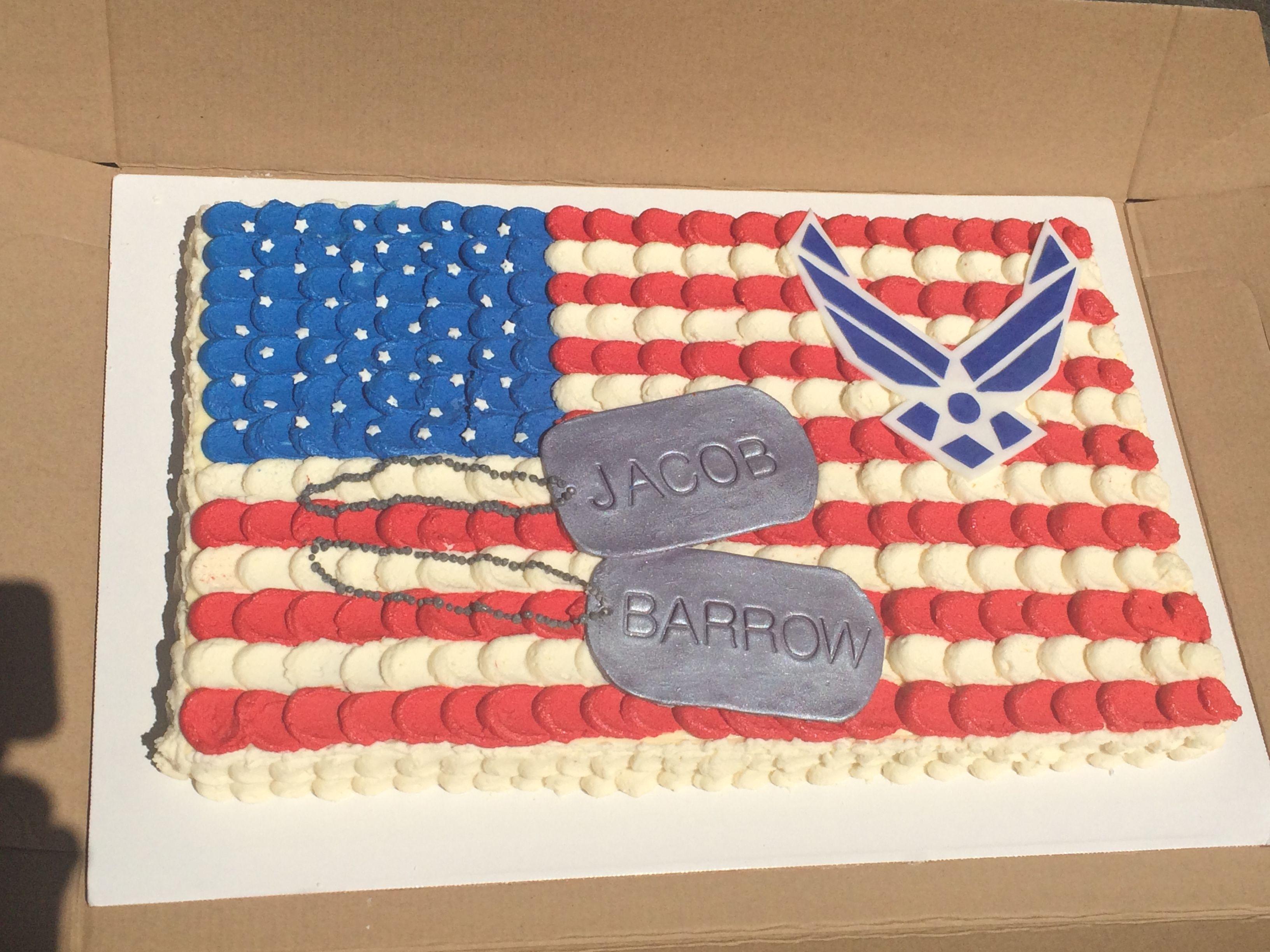 American Flag Air Force Cake American Flag Cake