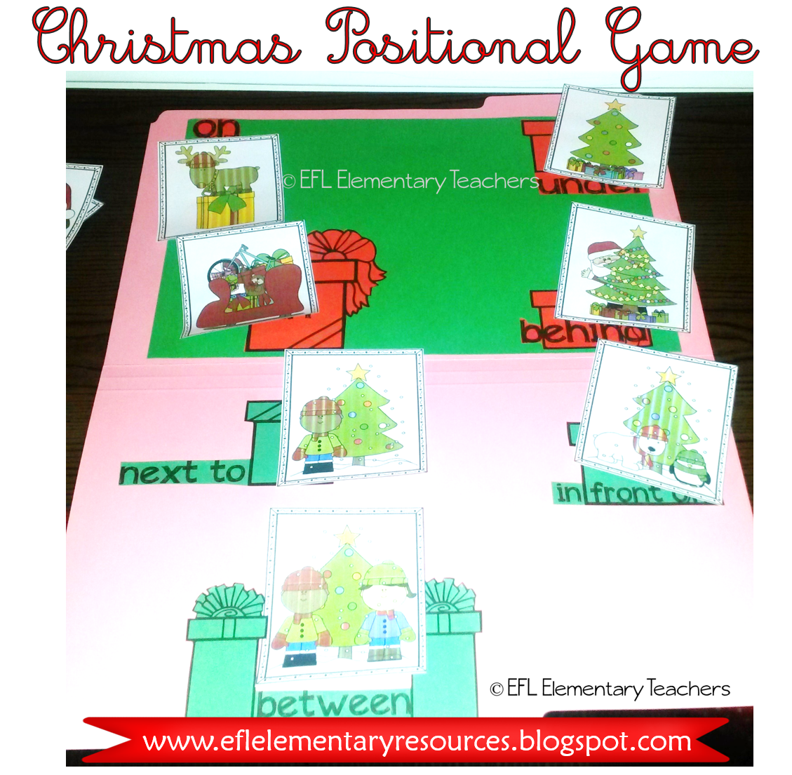 Match A Picture Card With The Preposition On A File Folder