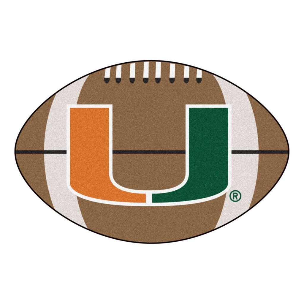 University Of Miami Touchdown Football Area Rug Miami Football Miami Hurricanes Football University Of Miami Hurricanes
