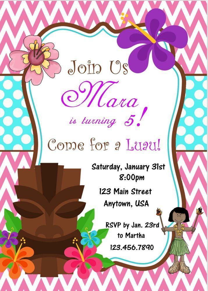 luau invitation birthday hawaiian invitation luau hawaiian
