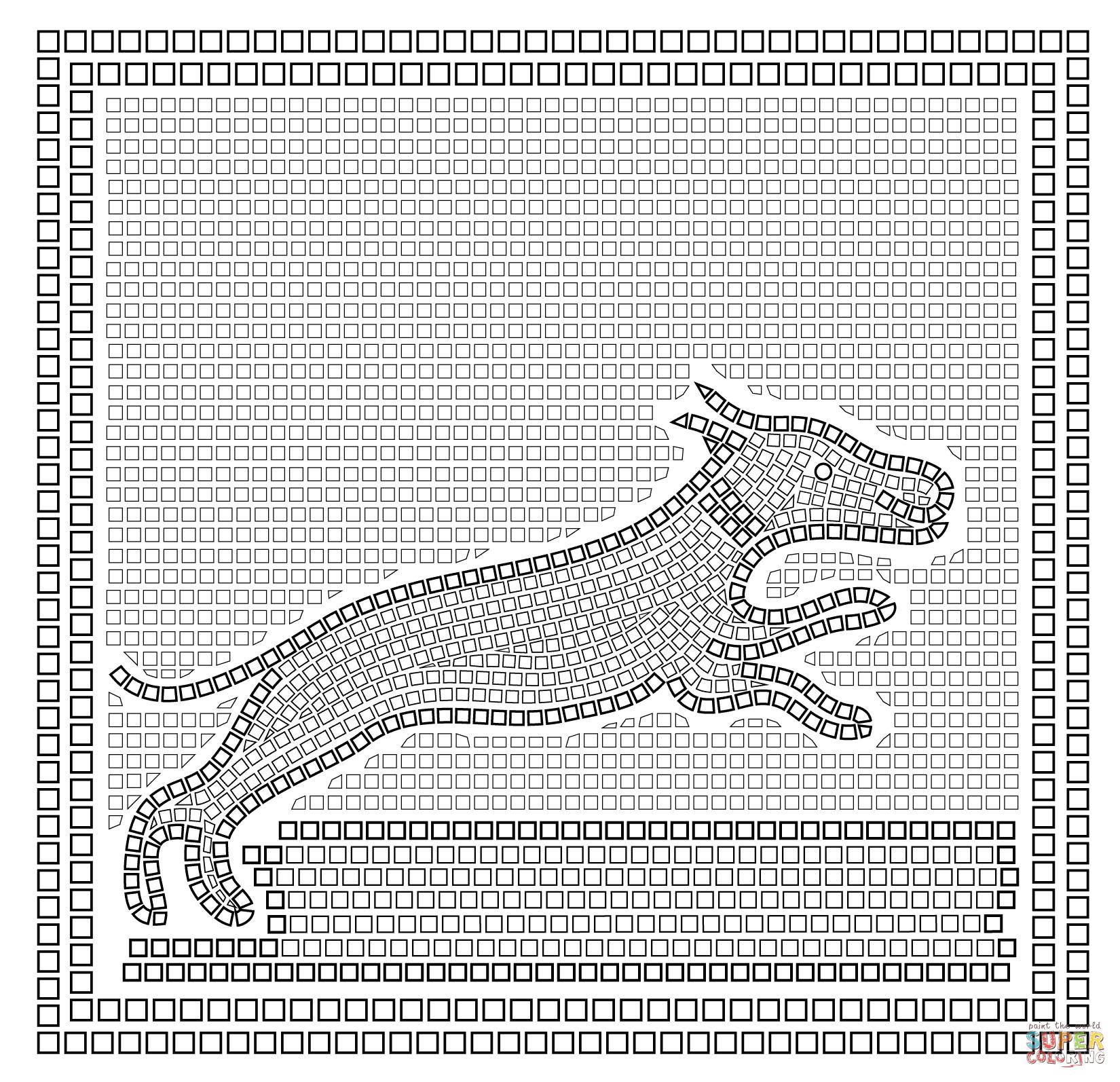 Roman Mosaic Dog
