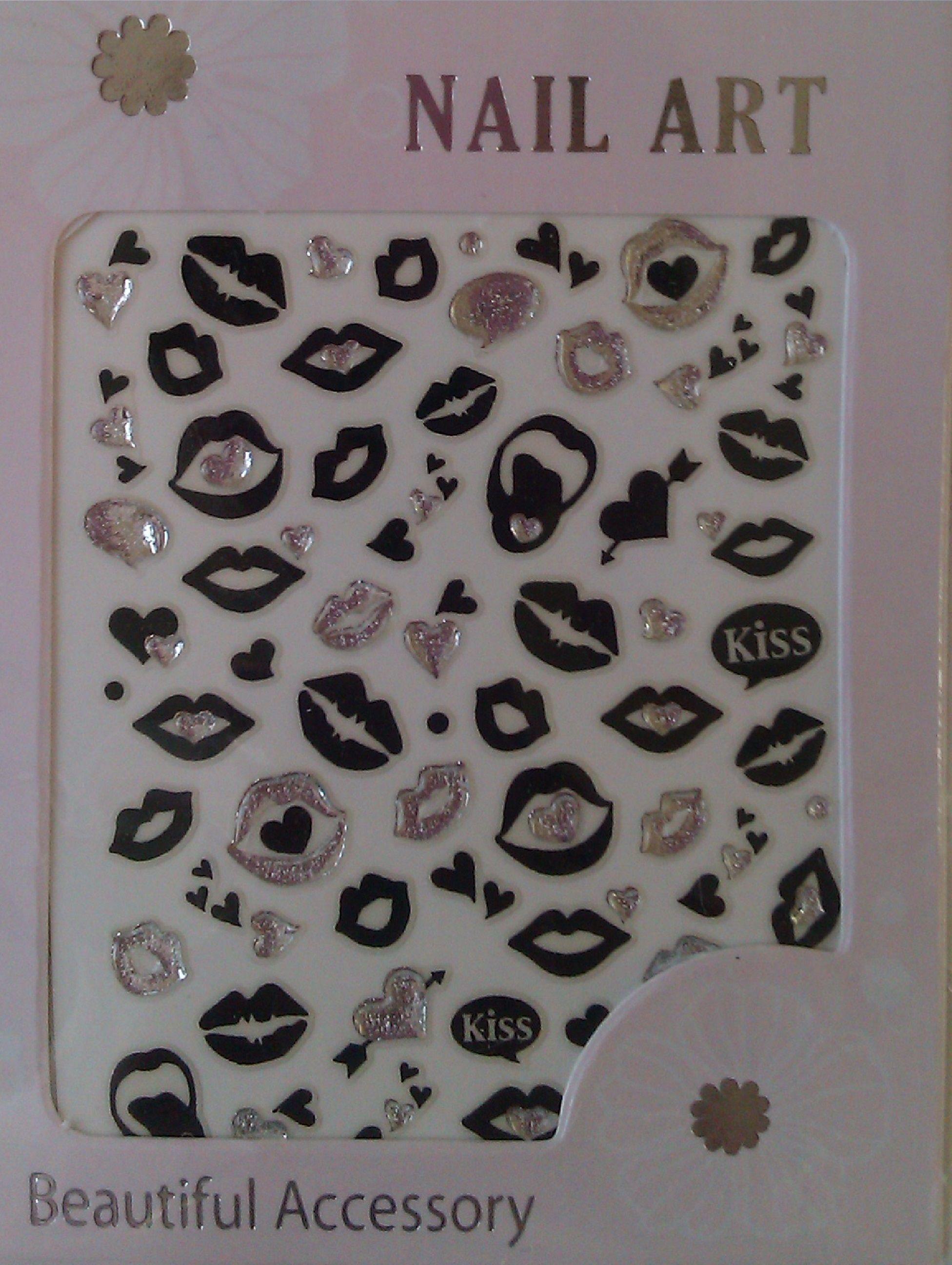 Gem lips & kisses nail stickers £1.00 http//www