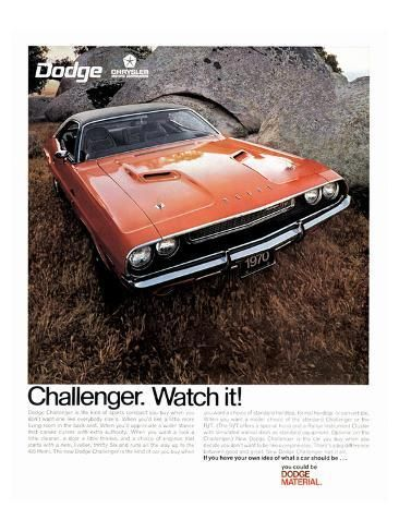 '1970 Dodge Challenger-Watch It!' Premium Giclee Print - | Art.com