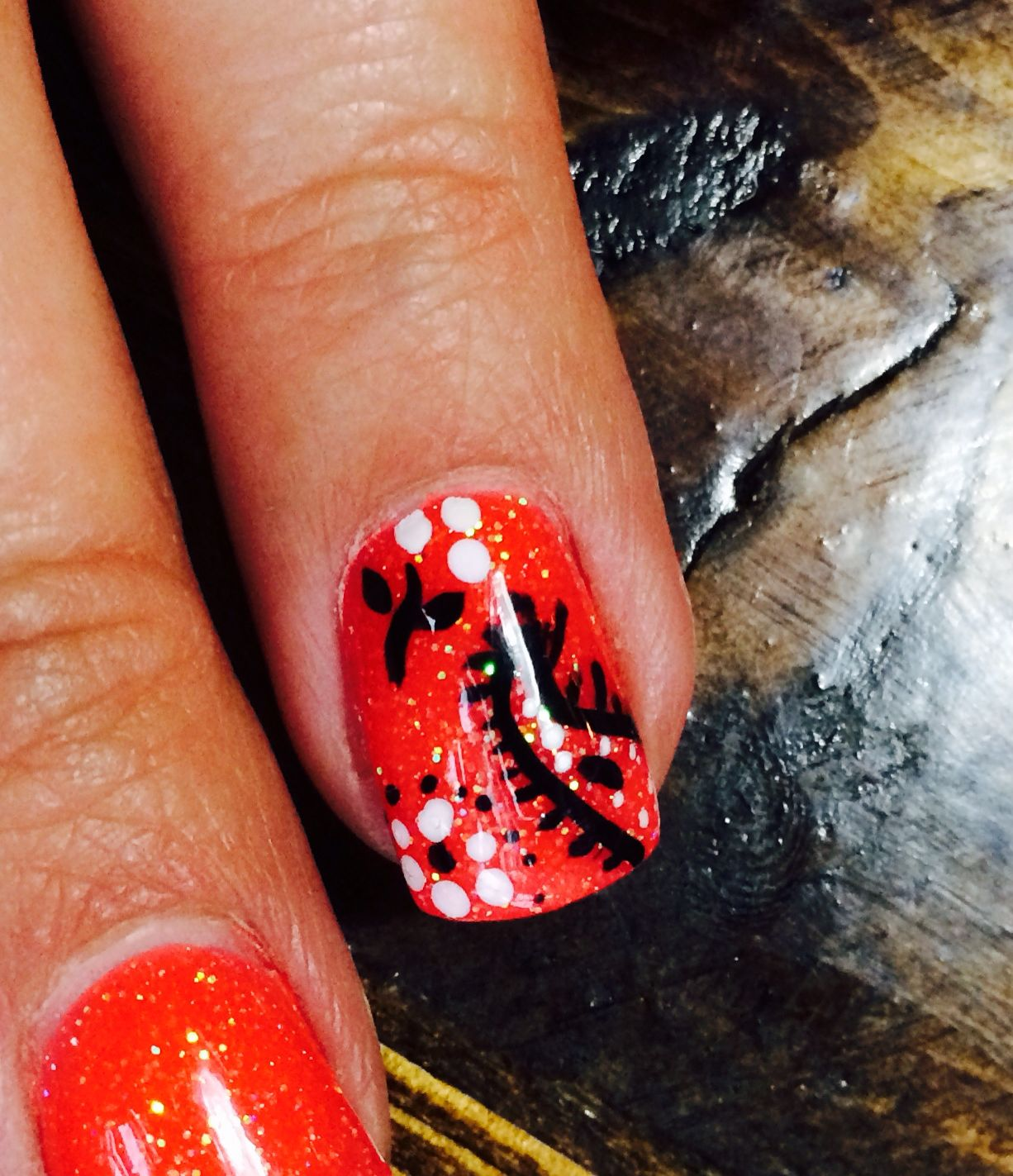 Rodeo nails bandana design