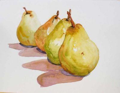 I Love Watercolor Paintings Pear Art Watercolor Fruit Fruit