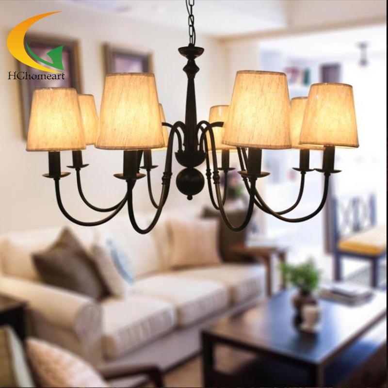 243.17$  Buy here - http://aligek.worldwells.pw/go.php?t=32659446528 - retro living room chandelier creative chandelier bedroom chandelier wrought iron minimalist restaurant lighting lamps 243.17$