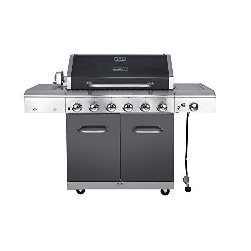 Deluxe 6 Burner Gas Grill With Searing Side Burner In Slate Propane Gas Grill Grilling Gas Grill Reviews