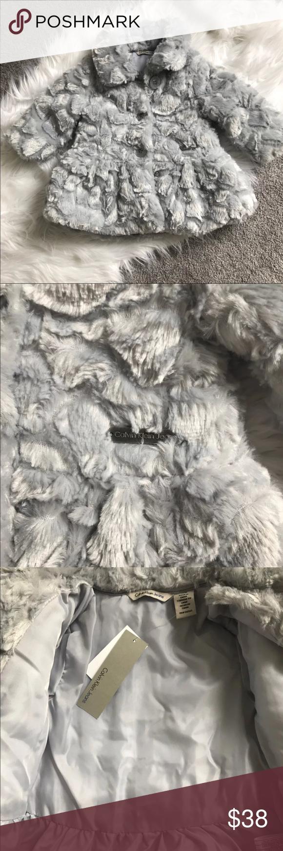Calvin Klein Faux Fur Coat Nwt Baby Coats Girl Calvin Klein Baby Faux Fur Coat