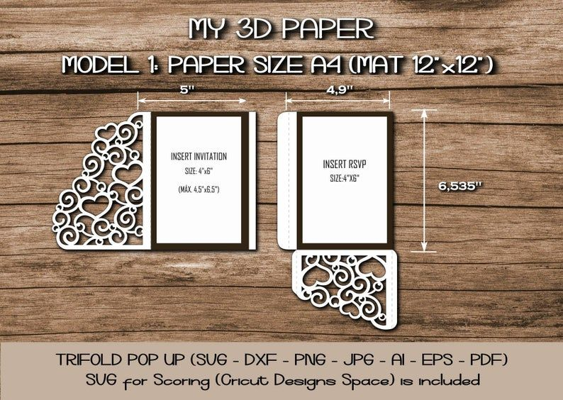Pin On Pop Up Card Template Svg