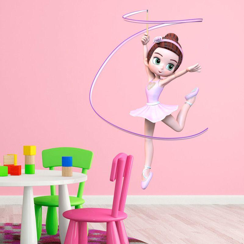Vinilos Infantiles: Bailarina #vinilo #pared #mafalda #decoracion #niña #infantil #TeleAdhesivo