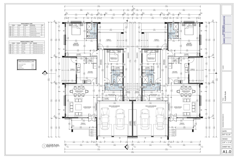 4 Bedroom Duplex House Plan Family Duplex 4 Bed Duplex Floor Etsy In 2020 Duplex Floor Plans Duplex House Plans Duplex House