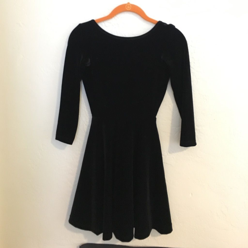 Backless American Apparel Velvet Skater Dress