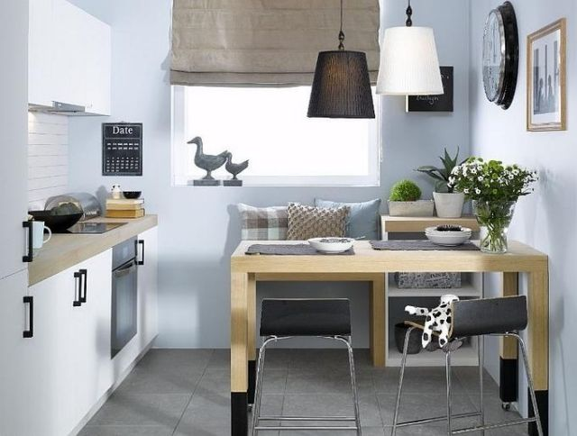 Einrichtungstipps für kleine Küche - 25 tolle Ideen und Bilder - kleine kuche im wohnzimmer