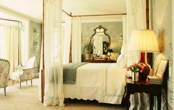 Romantisches schlafzimmer ~ Chinoiserie tapeten im schlafzimmer vintage romantisches