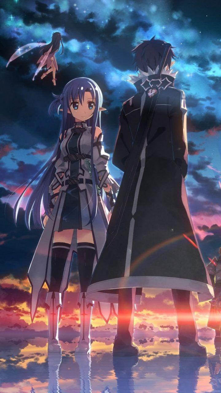 Kirito, Asuna, Yui Sword art online, Kawaii anime kız, Anime