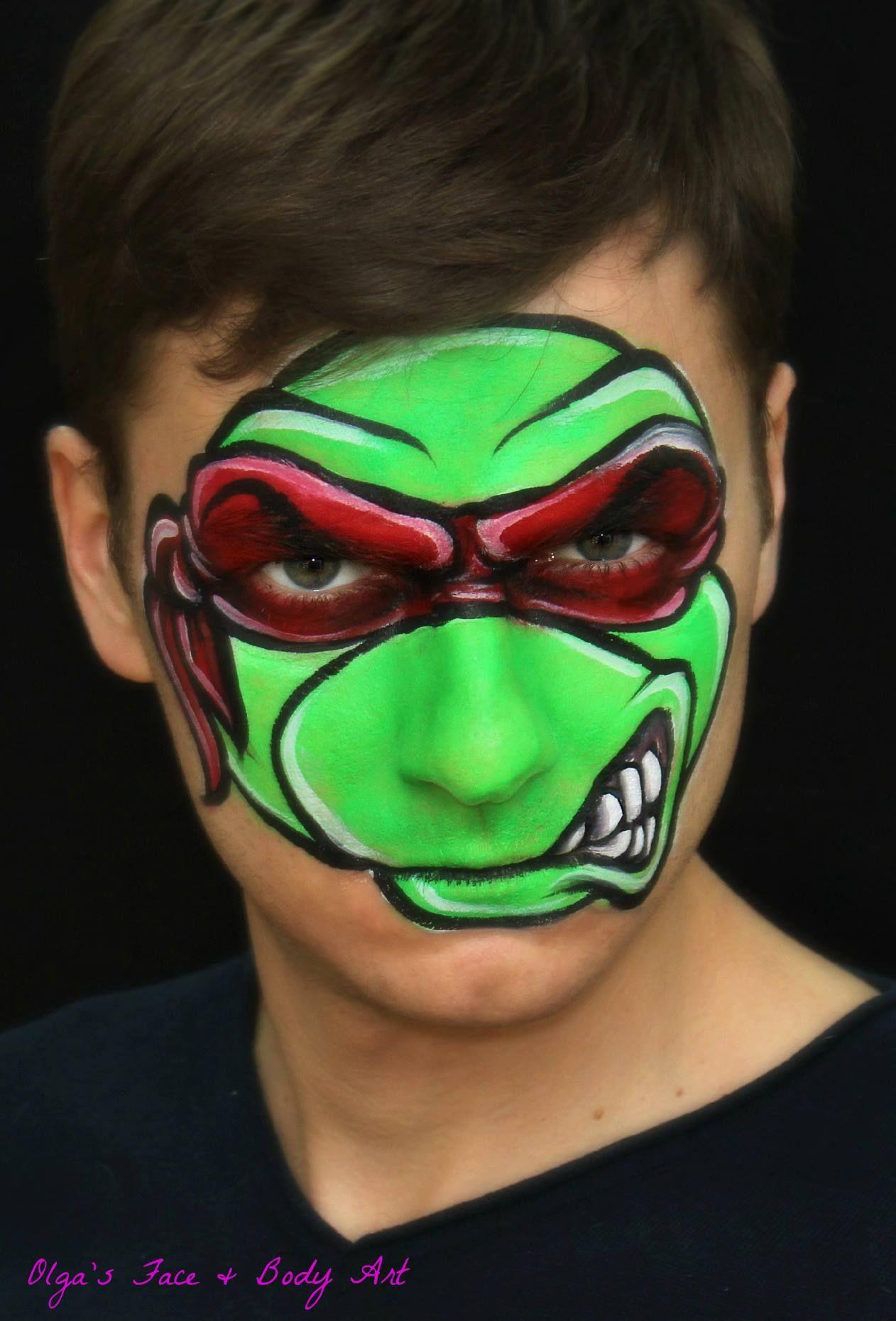 ⚡️Teenage Mutant Ninja Turtle (TMNT) Raphael — face ...