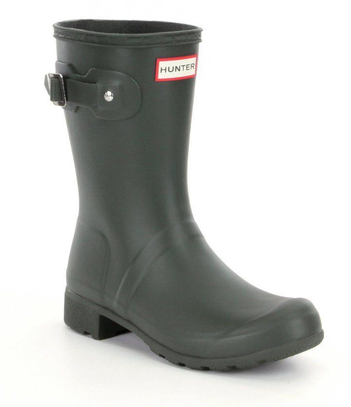 fd67070fa Hunter Women's Original Tour Matte Short Adjustable Calf Back Strap Rain  Boots